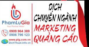 biên dịch tài liệu Marketing