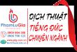 Dịch từ tiếng Đức sang tiếng Việt