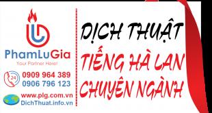 Dịch từ tiếng Hà Lan sang tiếng Việt