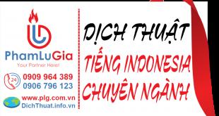 Dịch từ tiếng Indonesia sang tiếng Việt