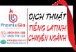 Dịch từ tiếng Latinh sang tiếng Việt