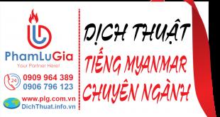 Dịch từ tiếng Myanmar sang tiếng Việt
