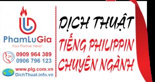 Dịch từ tiếng Philippin sang tiếng Việt