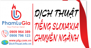 Dịch tiếng Slovakia