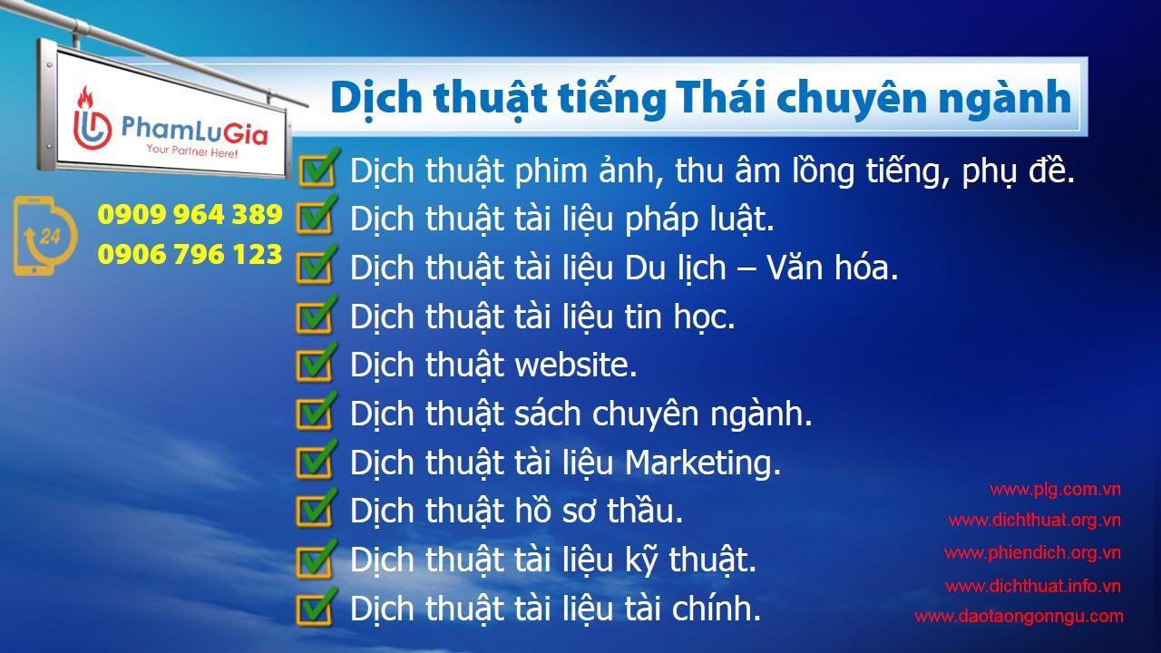 Dịch từ tiếng Thái sang tiếng Việt