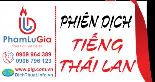 biên phiên dịch tiếng Thái Lan
