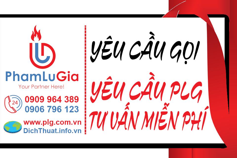 Yêu cầu Dịch thuật PLG tư vấn miễn phí