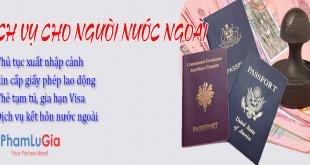 Dịch vụ cho người nước ngoài